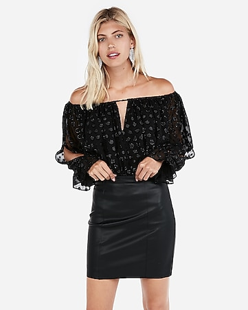 570ad5290d847c Express View · (minus the) leather mid-thigh skirt