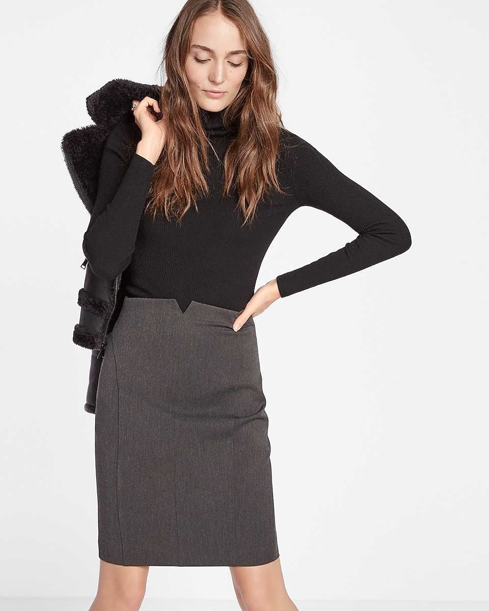 Long Black Pencil Skirt - Skirts