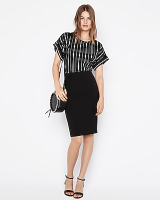 Express View  C B High Waisted Extreme Stretch Pencil Skirt