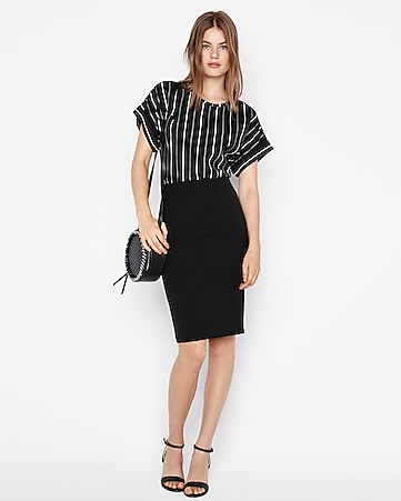 Express View · high waisted extreme stretch pencil skirt 7c7463793