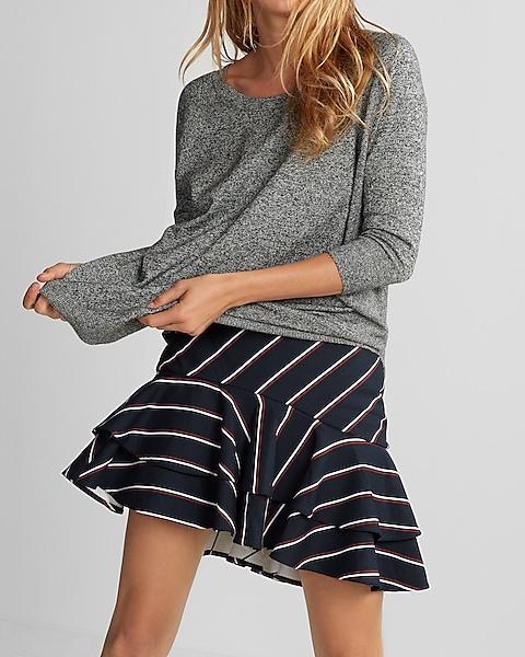 d2fe178a0 High Waisted Tiered Mini Skirt | Express