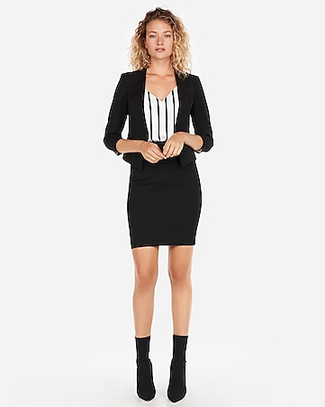 a8044c7e19fe Black Seamed Pencil Skirt Suit