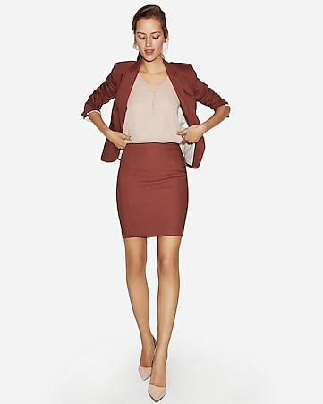 Express View · high waisted seamed pencil skirt 93120e858