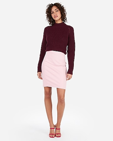 f46887f051 Express View · high waisted seamed pencil skirt