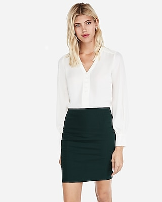 petite high waisted seamed pencil skirt