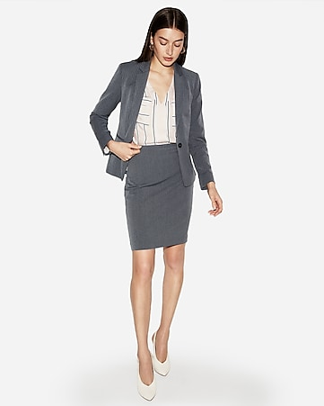 76fa33c67f88a1 Express View · high waisted herringbone clean pencil skirt