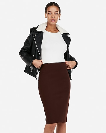 90373a7ae3 Express View · high waisted clean front pencil skirt