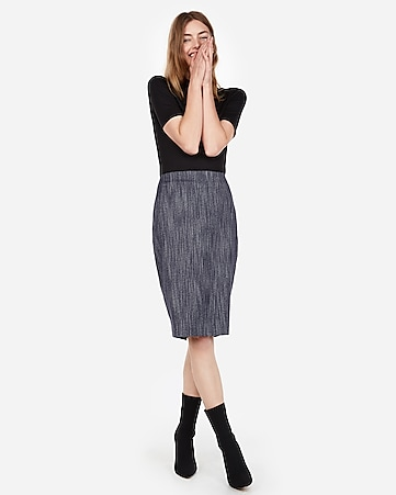 a4f3c00f95 Express View · high waisted marled tweed clean pencil skirt