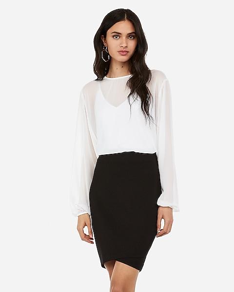 a97271eaa Wrap Hem Pencil Skirt | Express