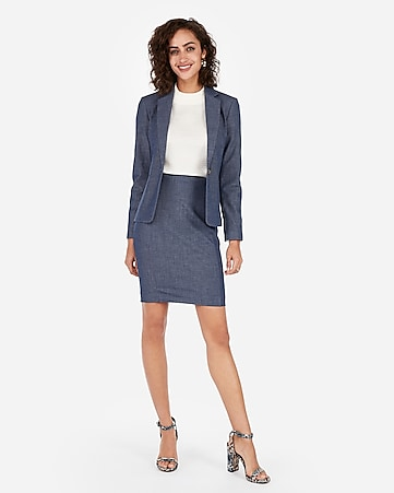 b7eb784e80 Express View · high waisted pintucked pencil skirt