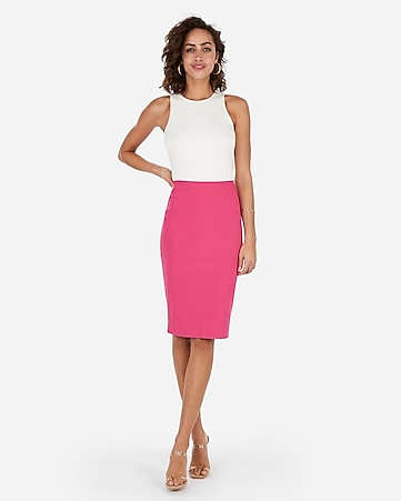b384335d857 Express View · high waisted clean pencil skirt