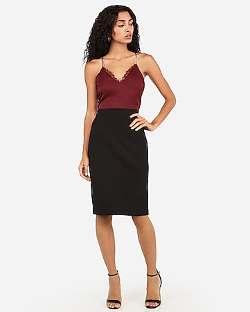 678692855 Express View · high waisted clean front pencil skirt