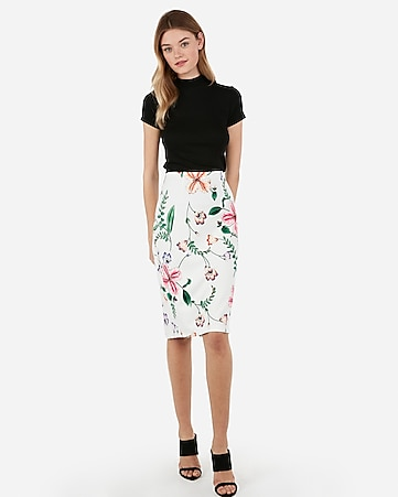 07f4346ac41 Express View · floral printed pencil skirt