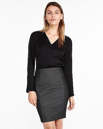 22ab7aaaa Seamed Pencil Skirt | Express
