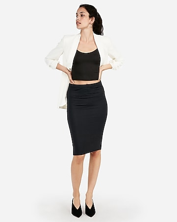 93cf7c0eac4ab4 Express View · high waisted supersoft pencil skirt