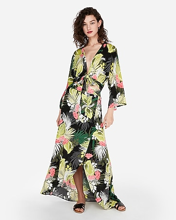b3f1108943 Express View · high waisted tropical print maxi skirt