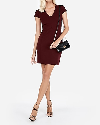petite tulip sleeve sheath dress