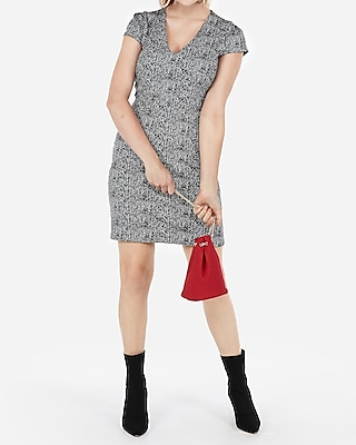 petite seamed sheath dress
