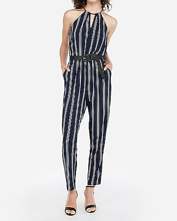 7f2508931b3 express view · keyhole cut-out halter jumpsuit