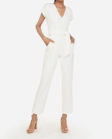 9750aeb032 Express View · v-neck sash tie waist jumpsuit v-neck sash tie waist  jumpsuit 88.00. Express View · seamed cami sheath dress
