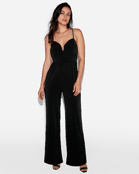 a43f222254b0 Wide Leg V-wire Jumpsuit