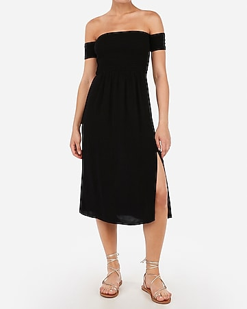 940f192890e Express View · off the shoulder smocked bodice midi dress