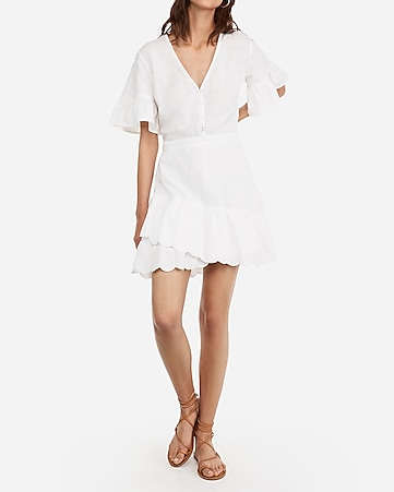 9ec290b8bed4 Express View · eyelet lace flutter sleeve dress
