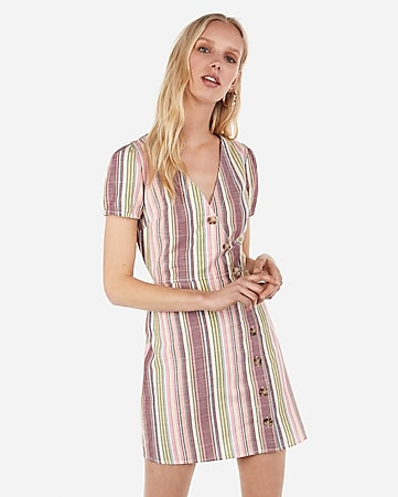 1049f14936 Express View · surplice button front wrap dress