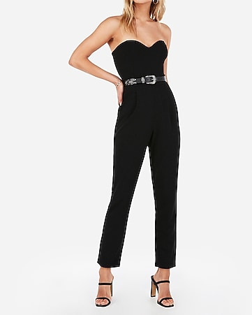 828aed9d949 strapless sweetheart neck jumpsuit