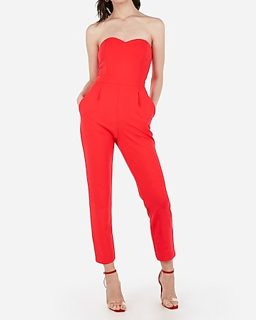 34294504d7 Express View · strapless sweetheart neck jumpsuit