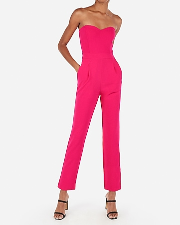 Express View · strapless sweetheart neck jumpsuit 25d462303