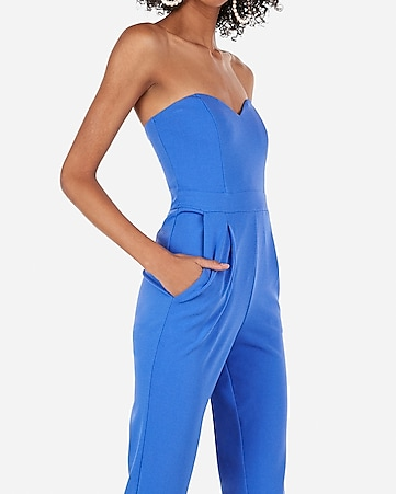 0affd76de4d Express View · strapless sweetheart neck jumpsuit