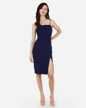 a42f40d3976 Express View · front slit sheath dress