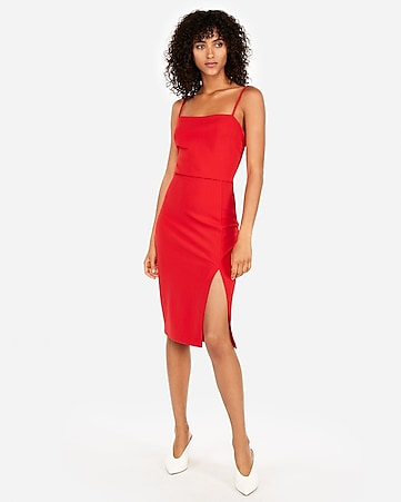 Express View · front slit sheath dress 844abb8a1