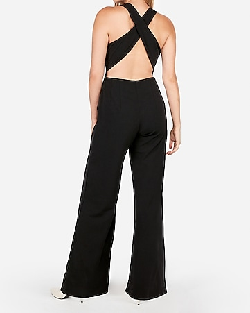 91235efe7a Express View · cross back wide leg jumpsuit