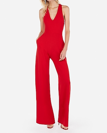 58e47873062 Express View · cross back wide leg jumpsuit