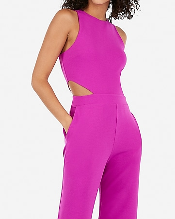 298288d403b1 Express View · cut-out side jumpsuit