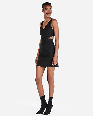 petite side cut-out mini sheath dress