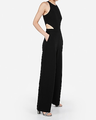 Petite Cut Out Side Jumpsuit by Express