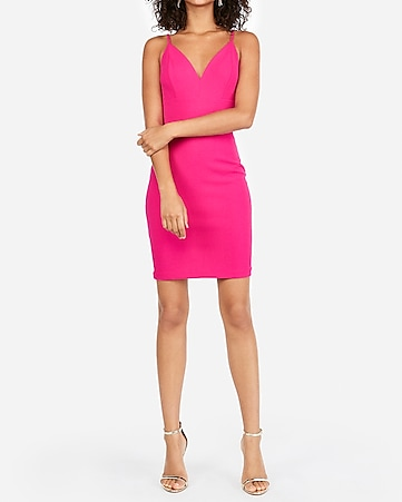 7e7b8e847af6b4 Express View · seamed cami sheath dress