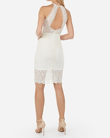 fedc60d9171 Express View · high neck lace sheath dress
