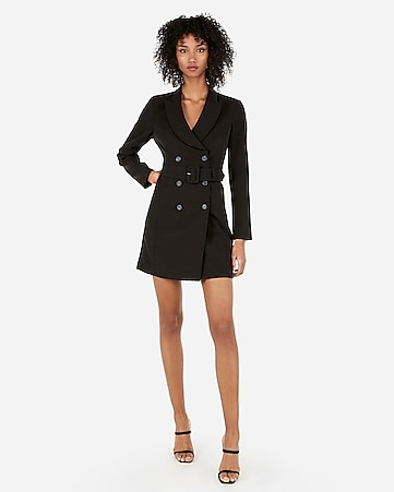 0bb484e18b Express View · double breasted belted suit dress