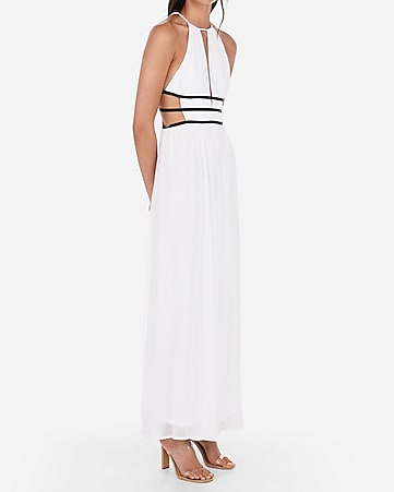 c3a9ff9986a55 express view · strappy side plunge cut-out maxi dress