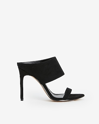 Pointed Toe Strappy Heeled Mules by Express