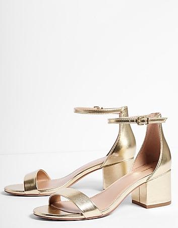 133a4e79eb94 ... Returns Express View · metallic low block heeled sandals