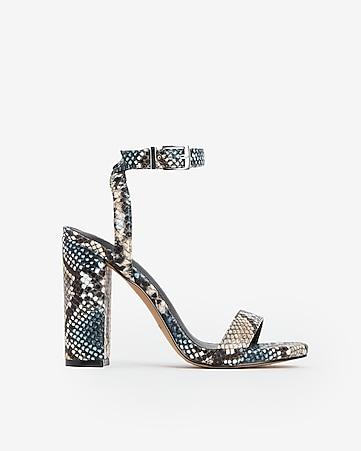 b497f9009f8 Express View · snakeskin print essex heels