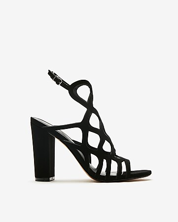 ffedf9a8dcd3 Express View · cut-out heeled sandals