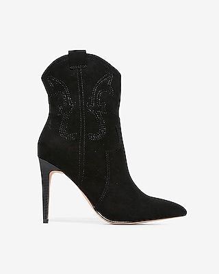 Thin Heel Western Booties by Express