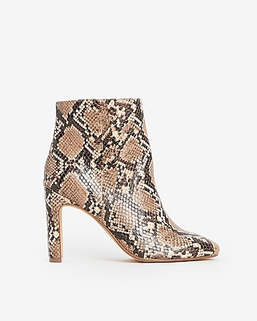 39c79c71c176 Express View · faux snakeskin booties