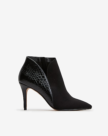 Faux Suede Side Slit Booties by Express